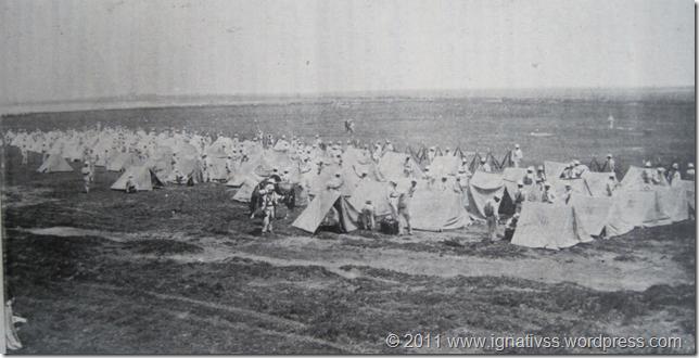 Campamento de una excursión militar