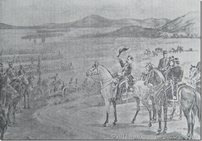 Reyes en el campo de maniobras (Composición de Pruneda)