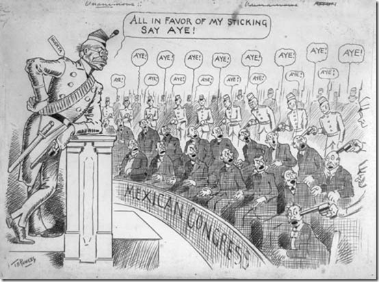 Huerta usó al ejército para reprimir al Congreso