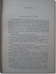 Aviso de reclutamiento en 1912