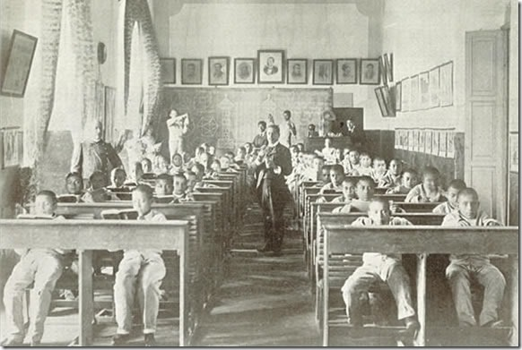 Escuela Industrial Militar, salon escolar, 1902