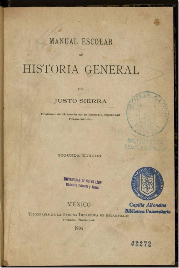 Manual escolar de historia general