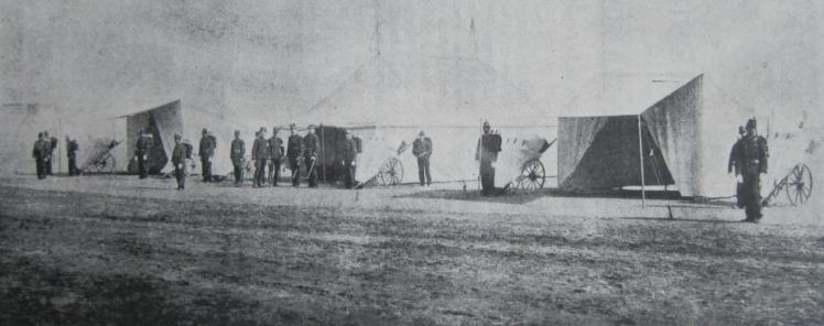 Tiendas para hospital provisional en campaña, México Militar, Vol 2, Núm. 1, 1 de junio de 1901, p. 196.